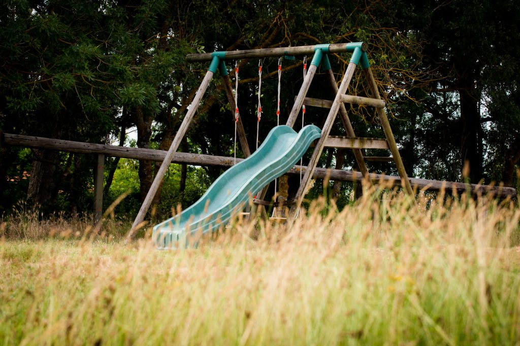 Slide in the play area