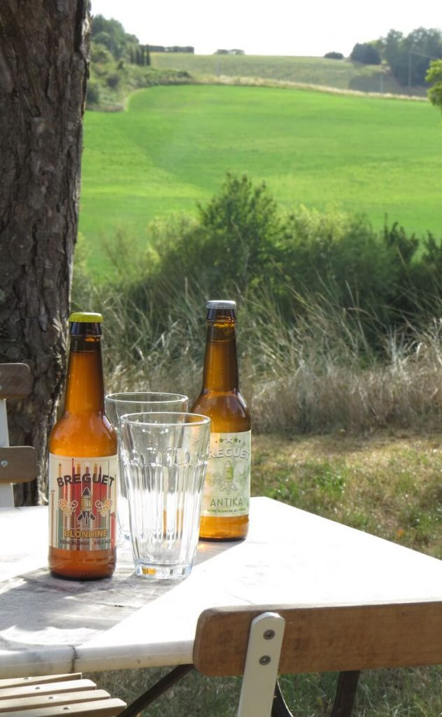 Enjoy a cool drink in the meadow